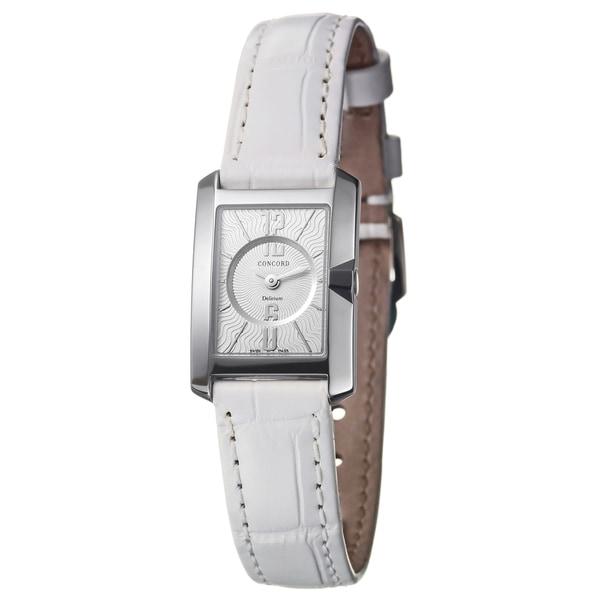 Concord Women's 'Delirium' 18k White Gold Scratch-resistant Swiss Quartz Watch