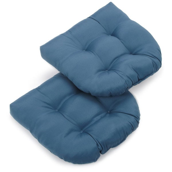 Blazing Needles 19 Inch U Shaped Indoor Chair Cushion Set