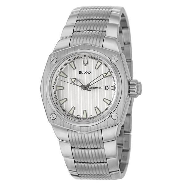 Bulova Accutron Men's 'Corvara' Stainless Steel GMT Watch