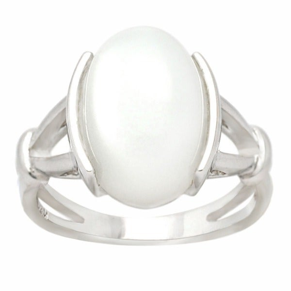 De Buman Sterling Silver Moonstone Ring