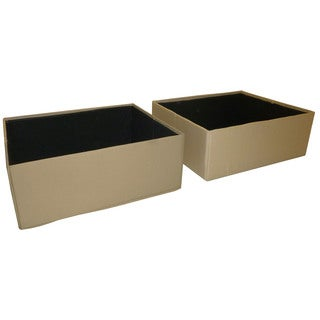 DuraBed Foldable Fabric-covered Jumbo Underneath Storage Bins (Set of 2)
