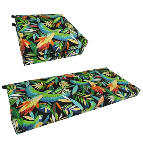 Blazing Needles 3-Piece Settee 3-Piece Outdoor Cushion Set