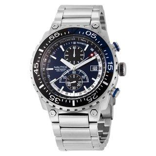 Nautica Men's Eclipse N15519G Silver Stainless-Steel Quartz Blue Dial Watch