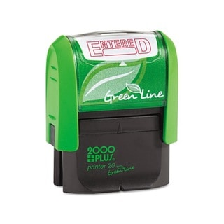 2000 PLUS Green Line 'Entered' Message Stamp (Red)