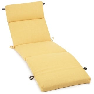 Blazing Needles Earthtone 72-inch Spun Poly Outdoor Chaise Lounge Cushion