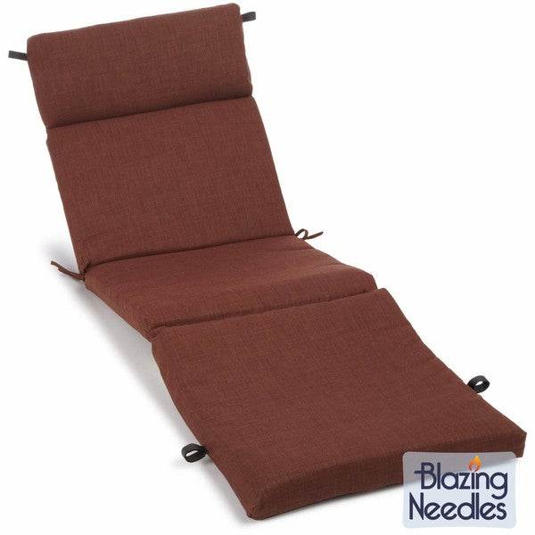 Blazing Needles Earthtone 72-inch All-weather Solid Outdoor Chaise Lounge Cushion