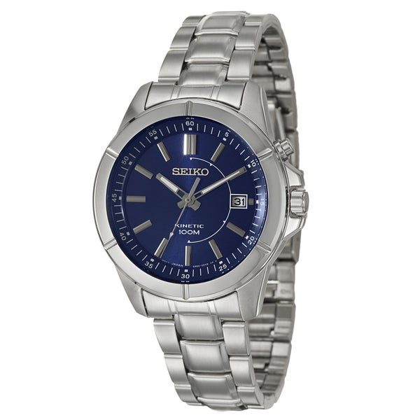 Seiko Men's 'Kinetic' Stainless Steel Kinetic Watch