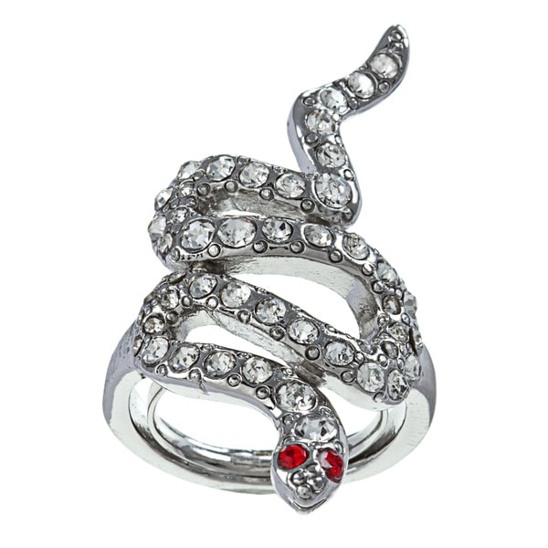 Kenneth Jay Lane Cubic Zirconia Snake Ring