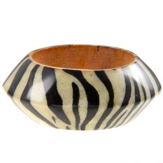 Kenneth Jay Lane Zebra Print Cuff Bracelet