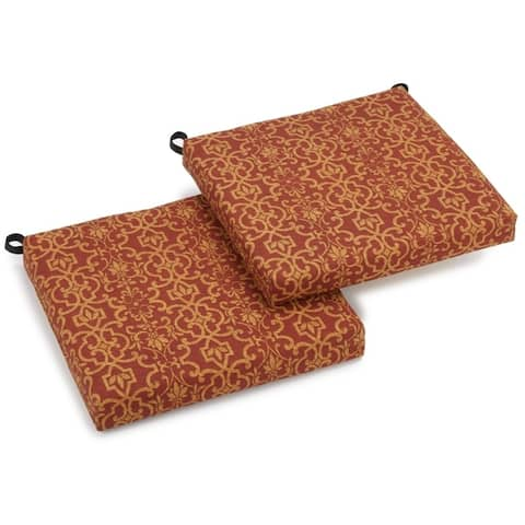 Blazing Needles 20-inch All-Weather Chair Cushion (Set of 2)