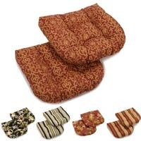 Blazing Needles 19-inch U-shape Chair/Rocker Outdoor Cushions (Set of 2)