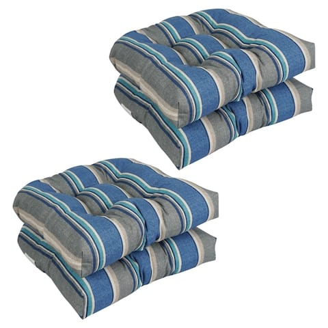 "Blazing Needles 19-inch U-shape Chair Cushions (Set of 4) - 19"" x 19"""