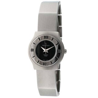 Peugeot Vintage 729BK Deco Style Silvertone Bracelet Watch