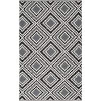 Hand-woven Grey Wool Area Rug - 8' x 11'
