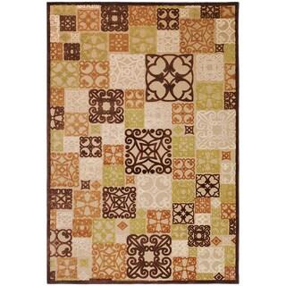 Hand-woven Chocolate Brown Rug (4' x 5'7)