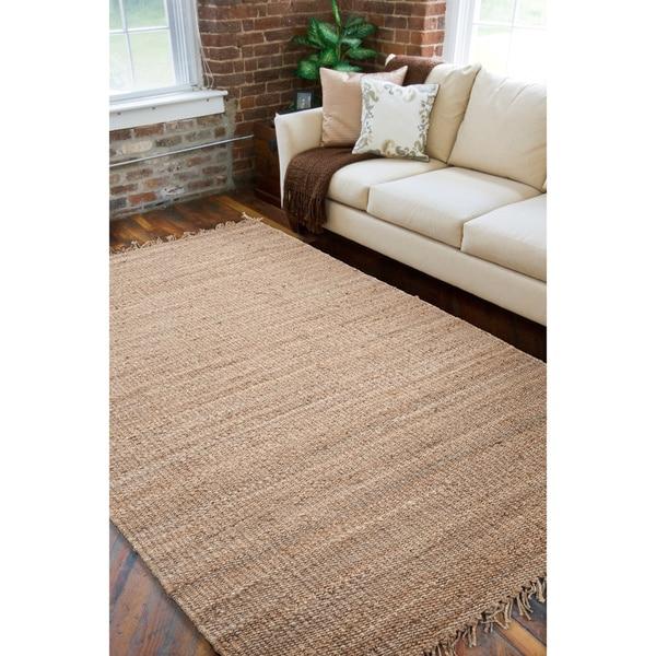 Hand-woven Organic Wheat Jute Area Rug - 5' x 8'