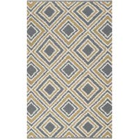 Hand-woven Golden Yellow Wool Area Rug - 8' X 11'