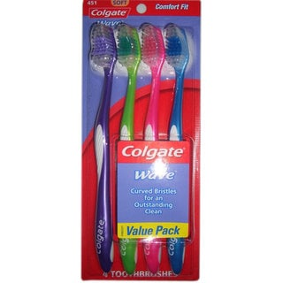 Colgate Wave ZigZag Soft Full Head Toothbrush (Pack of 4)