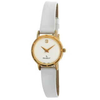 Peugeot Vintage 380-22 White Leather Deco Watch
