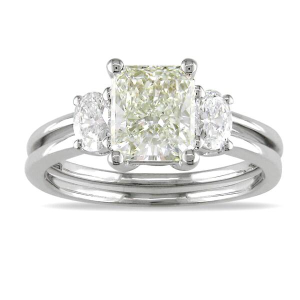 14k White Gold 1 7/8ct TDW Certified Diamond Engagement Ring (J, SI1)