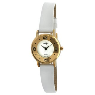 Peugeot Vintage White Leather Deco Watch