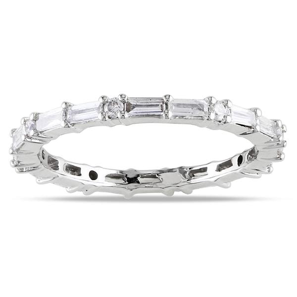New! 14k White Gold 5/8ct TDW Diamond Eternity Ring