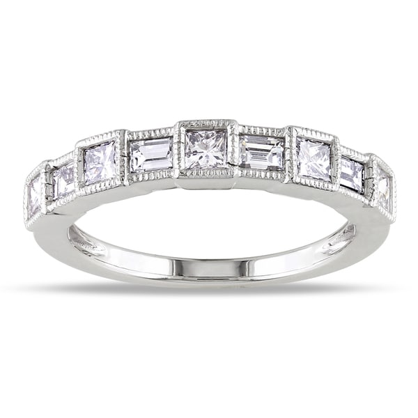 Miadora 14k White Gold 7/8ct TDW Diamond Ring