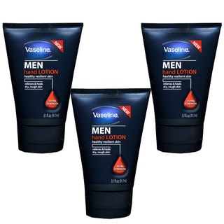 Vaseline Men Extra Strength 3.1-ounce Hand Lotion (Pack of 3)