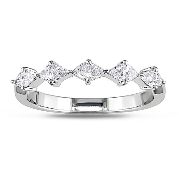 New! 18k White Gold 1/2ct TDW Trillion Diamond Ring