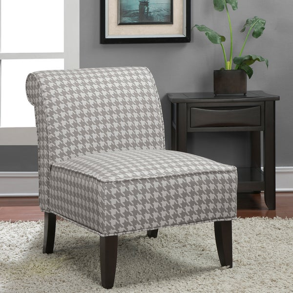 Shop Sadie Grey Houndstooth Slipper Chair Free