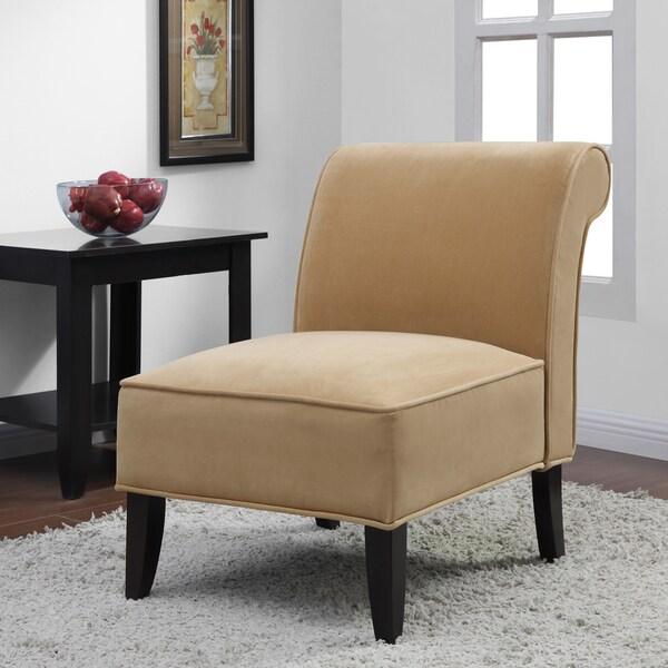 Sadie' Honey Upholstery Slipper Chair