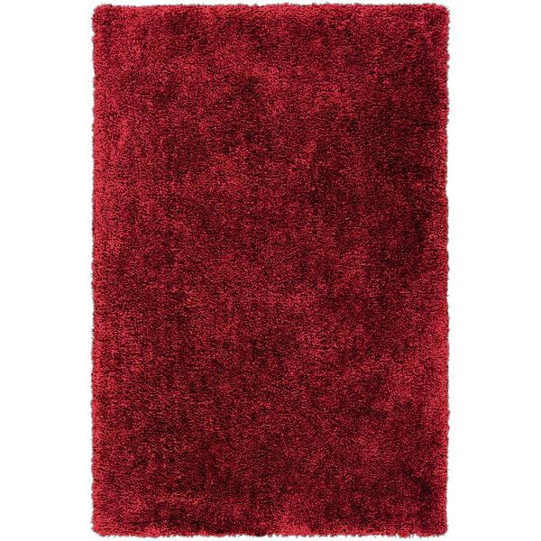 Hand-tufted Scarlet Shag Brick Red Rug (8' x 10'6)