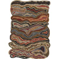 The Curated Nomad Alvarado Hand-tufted Novelty Wool Geode Area Rug - 3'3 x 5'3