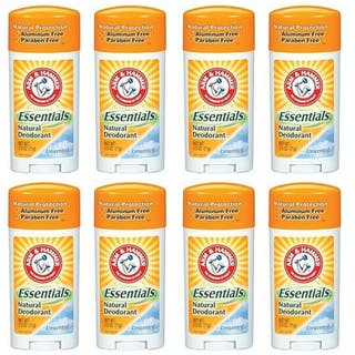 Arm & Hammer Unscented Essentials Natural Protection 2.5-ounce Deodorant (Pack of 8)|https://ak1.ostkcdn.com/images/products/7673746/P15084809.jpg?impolicy=medium