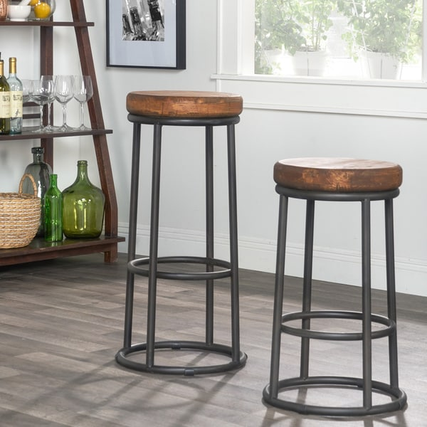 willow reclaimed wood and iron 24 inch backless counter stool by kosas home free shipping. Black Bedroom Furniture Sets. Home Design Ideas