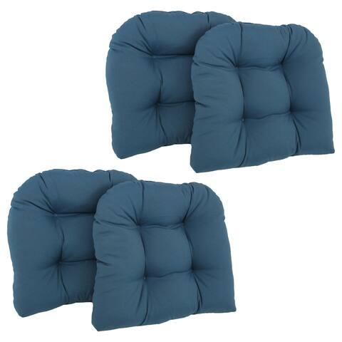 Blazing Needles 19-inch U-shaped Tufted Chair Cushions (Set of 4)