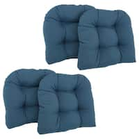 Blazing Needles 19-inch U-shaped Tufted Twill Chair Cushions (Set of 4)