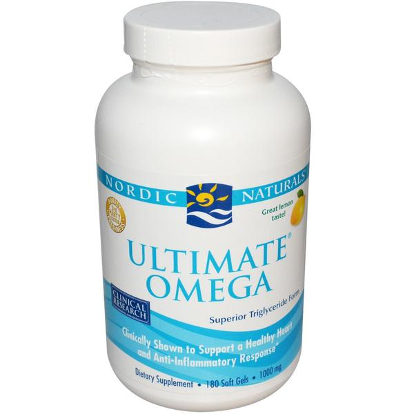 Nordic Naturals 1000mg Ultimate Omega Fish Oil Supplement (180 Soft Gels)