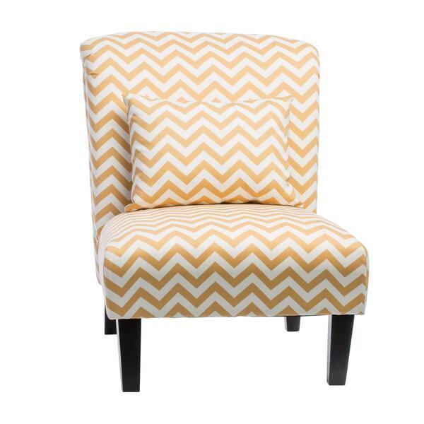 Groovy Shop Anna French Yellow Chevron Fabric Accent Chair Free Machost Co Dining Chair Design Ideas Machostcouk