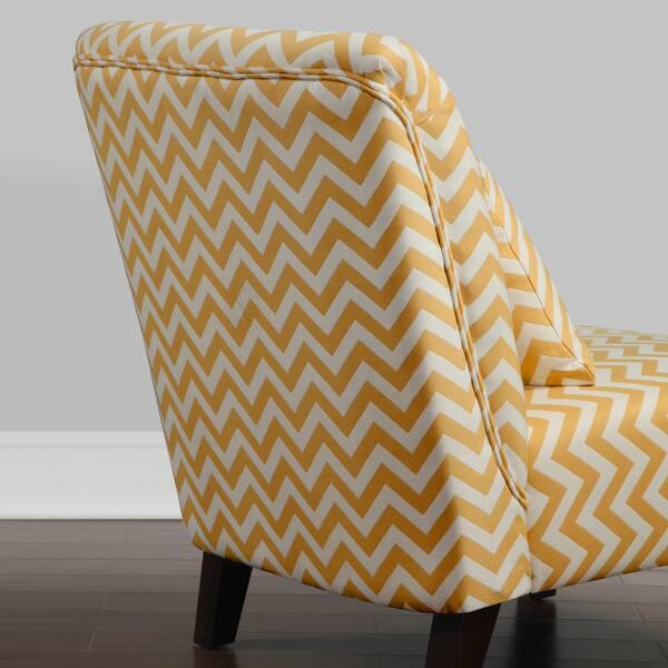 Super Shop Anna French Yellow Chevron Fabric Accent Chair Free Machost Co Dining Chair Design Ideas Machostcouk