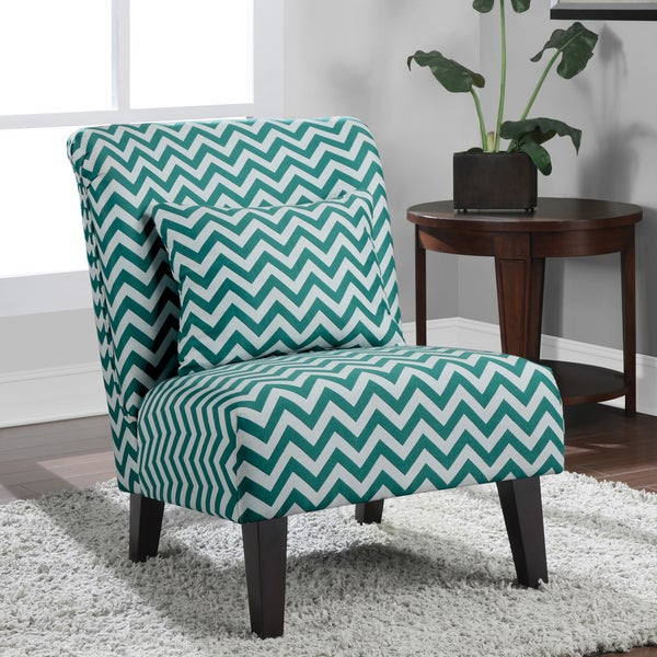 anna peacock chevron fabric accent chair - free shipping today