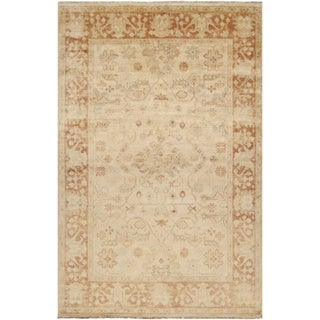 Hand-knotted Royalton Beige Wool Rug (8' x 11')