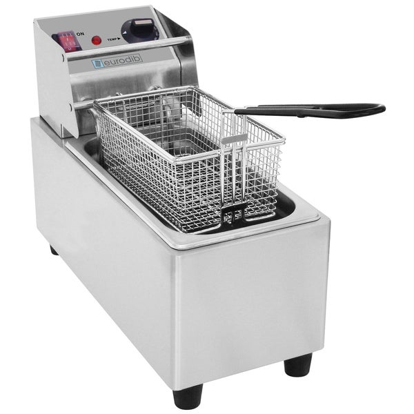 Eurodib 8-liter Stainless Steel Deep Fryer