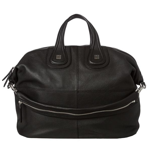 Givenchy 'Nightingale' Large Black Leather Satchel
