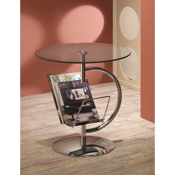 Chrome Finished Round Side End Table