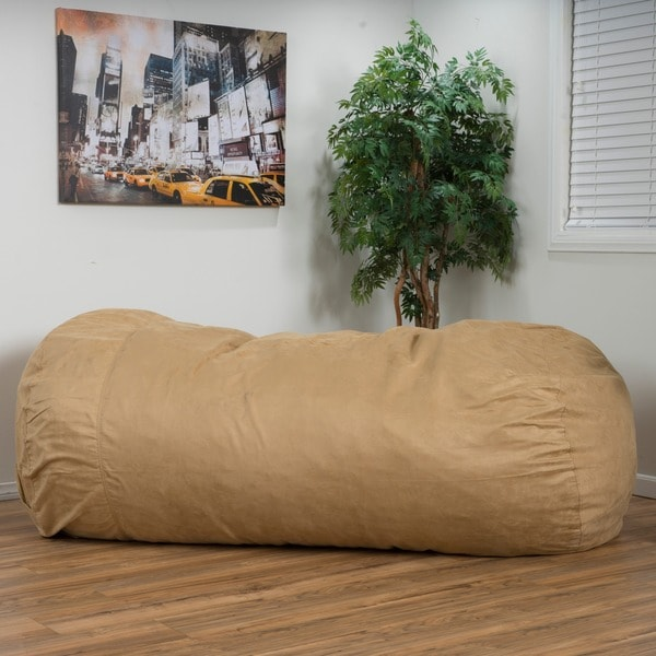 Lounger Bean Bag Chair larson faux suede 8-foot lounge beanbag chairchristopher