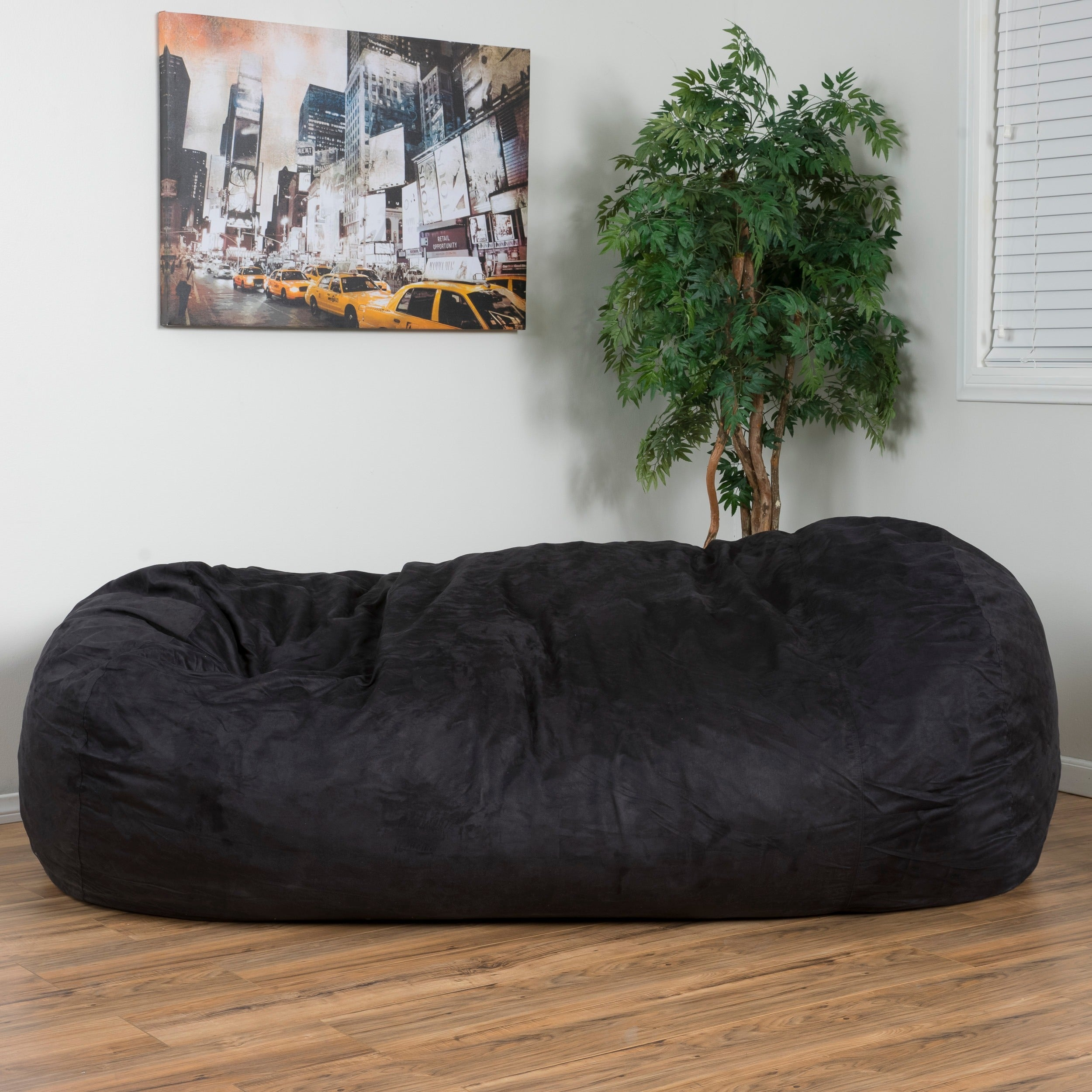 Pleasant Larson Faux Suede 8 Foot Lounge Beanbag Chair By Christopher Knight Home Squirreltailoven Fun Painted Chair Ideas Images Squirreltailovenorg