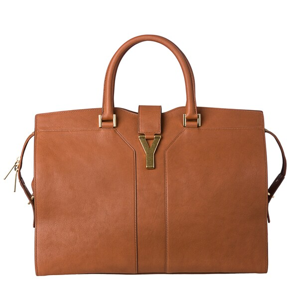 Yves Saint Laurent 'Cabas Y' Large Nut Leather Tote Bag