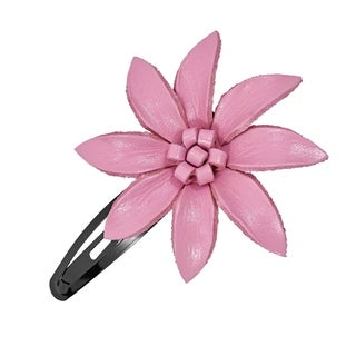 Handmade Genuine Leather Lily Hair Pinch Clip (Thailand)