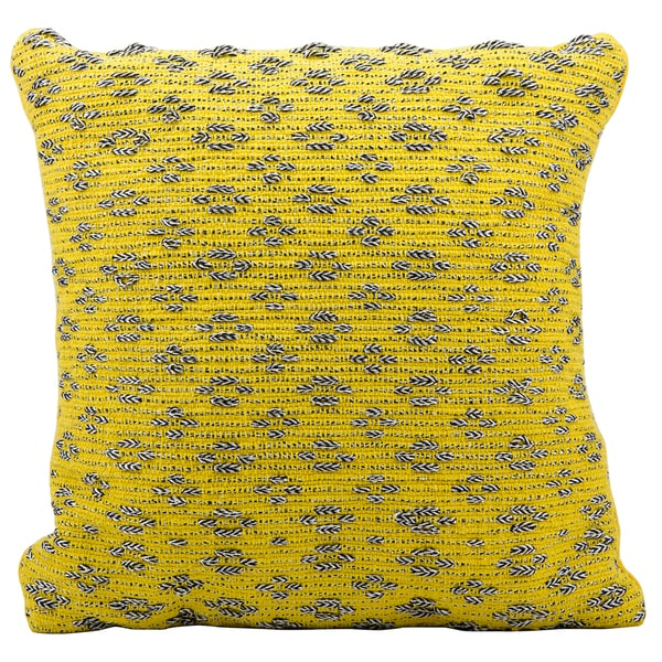 Mina Victory Woven Luster Tania Yellow Throw Pillow (20-inch x 20-inch) by Nourison